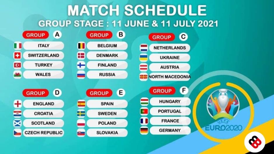 England Euro 2021 Fixtures